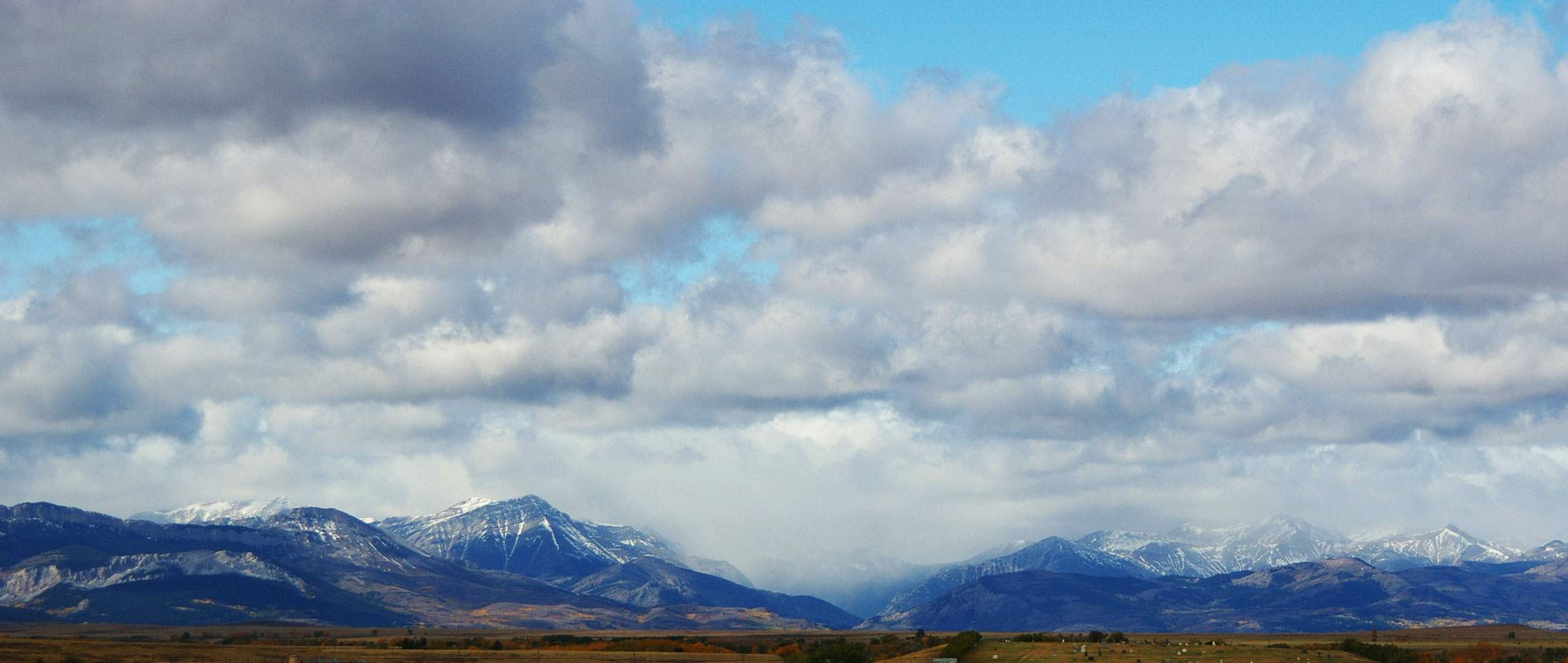 Cloudy sky over Montana mountains